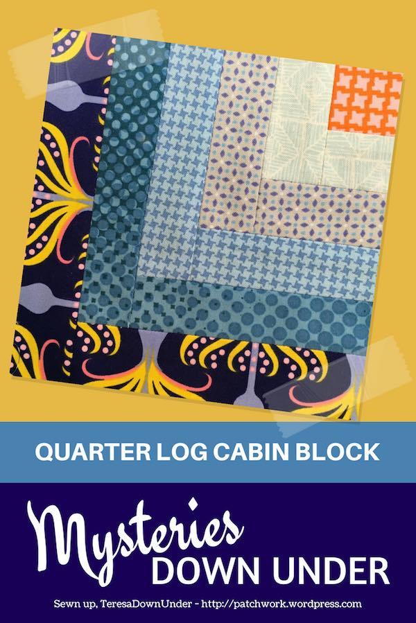 Quarter log cabin quilt block video tutorial