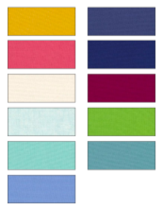 Mysteries Down Under quilt colour palette