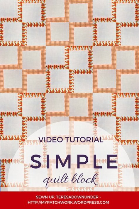Simple quilt block - video tutorial