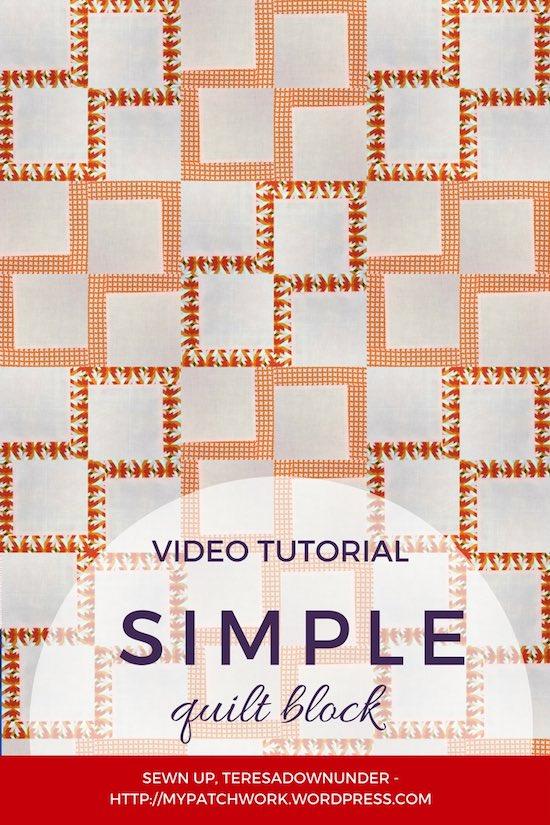 Simple quilt block - video tutorial