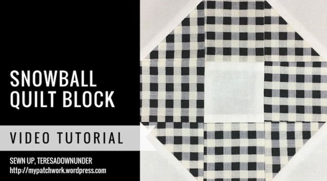 Block 2 – Snow ball quilt block – Mysteries Down Under quilt
