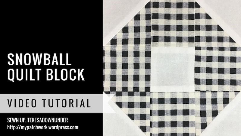 Mysteries Down Under - Snowball quilt block - video tutorial