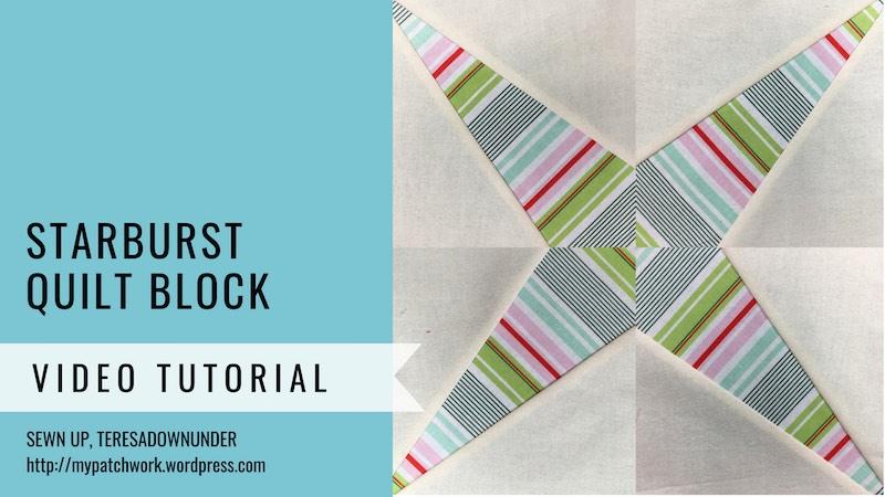 Starburst quilt block - Mysteries Down Under quilt turorial