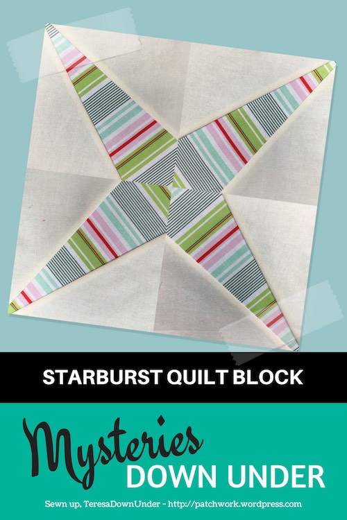 Starburst quilt block - Mysteries Down Under quilt