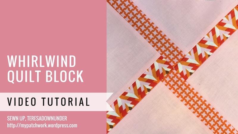 Whirlwind quilt block - video tutorial