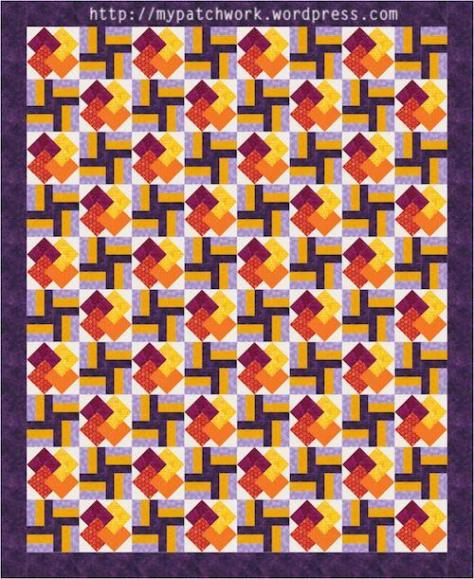 Flames quilt pattern