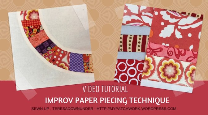 Improv paper piecing technique video tutorial