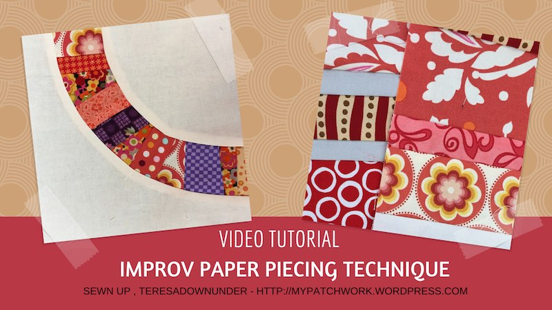 Improv paper piecing technique video tutorial