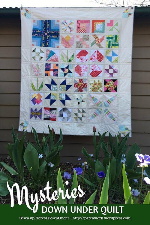 Assembling the blocks - Mysteries Down Under quilt
