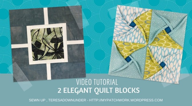 Two elegant quilt blocks video tutorial