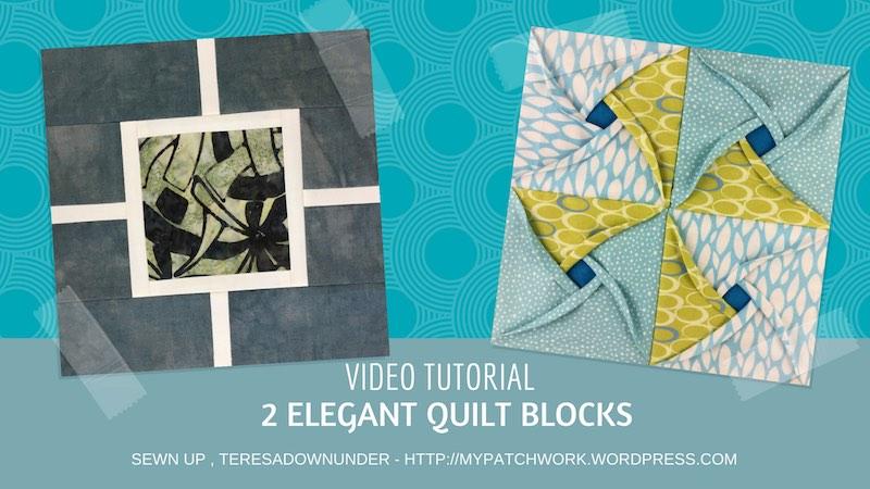 Two elegant quilt blocks video tutorial