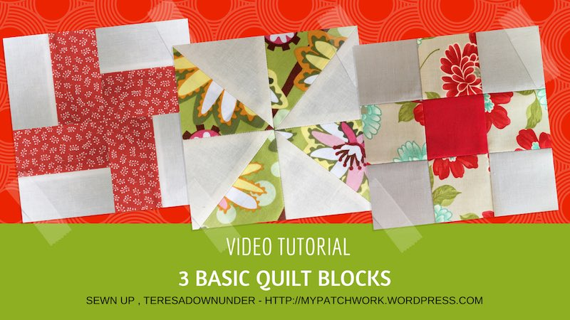 3 basic quilt blocks video tutorial
