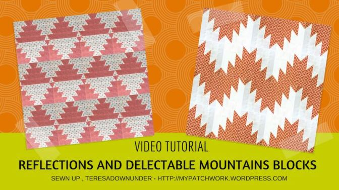 Reflections and delectable mountains quilt blocks