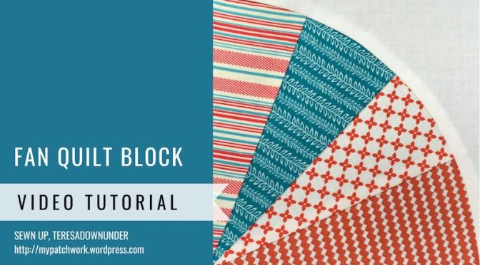 Fan quilt block video tutorial