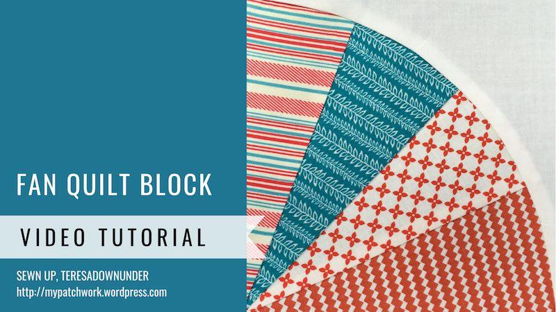 Fan quilt block video tutorial