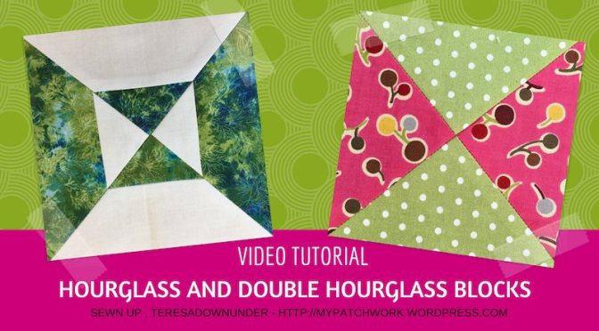 Simple and double hourglass quilt blocks