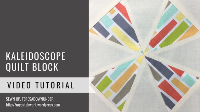 Block 27 – Kaleidoscope quilt block – Mysteries Down Under quilt