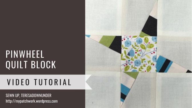 Pinwheel quilt block - Mysteries Down Under quilt