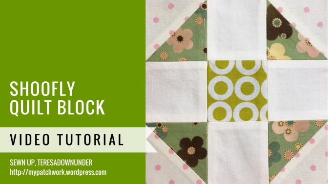 Block 15 – Shoofly quilt block – Mysteries Down Under quilt