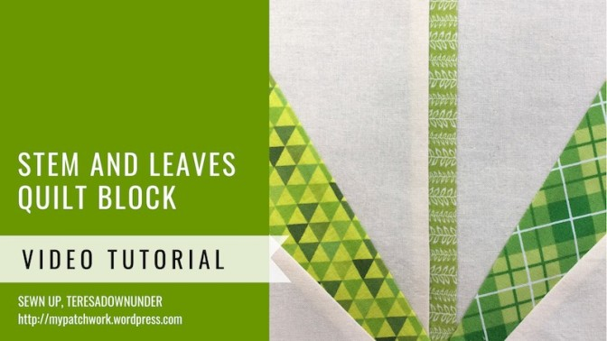 Block 25 – Stem and leaves – Mysteries Down Under quilt