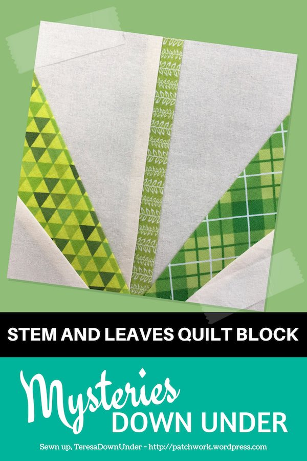 Stem and leaves - foundation piecing block - Mysteries Down Under quilt