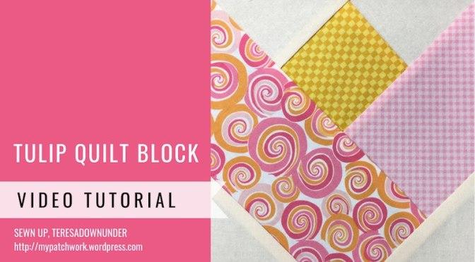 Tulip quilt block - Mysteries Down Under quilt