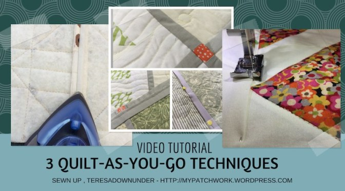3 Quilt-as-you-go techniques video tutorial