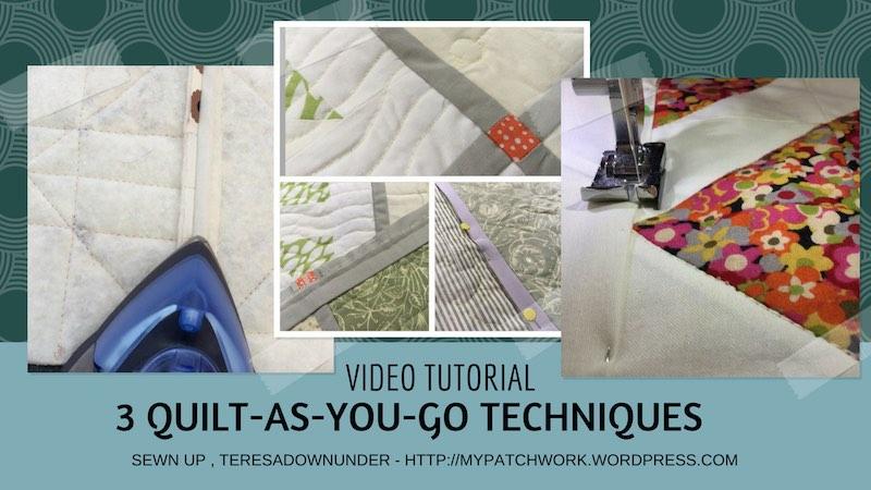 3 Quilt as you go techniques