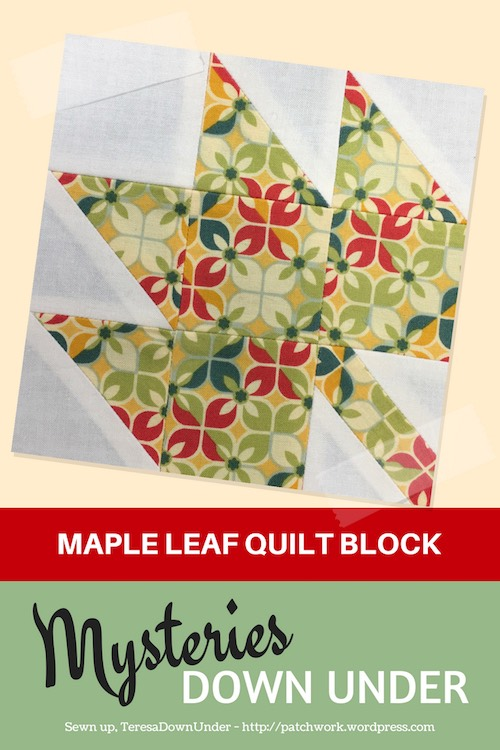 Maple leaf - Mysteries Down Under quilt