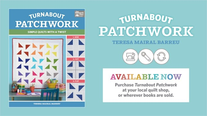 Order Turnabout patchwork. Simple quilts with a twist