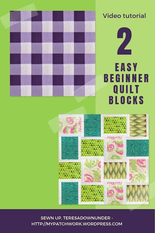 2 easy beginner quilt blocks video tutorial