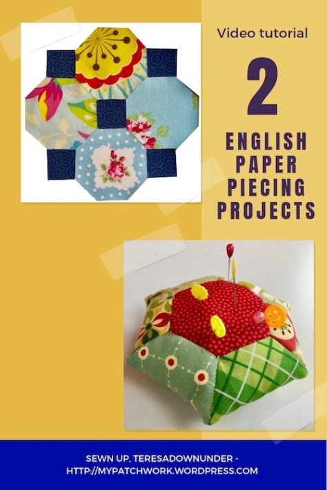 2 English paper piecing projects video tutorial