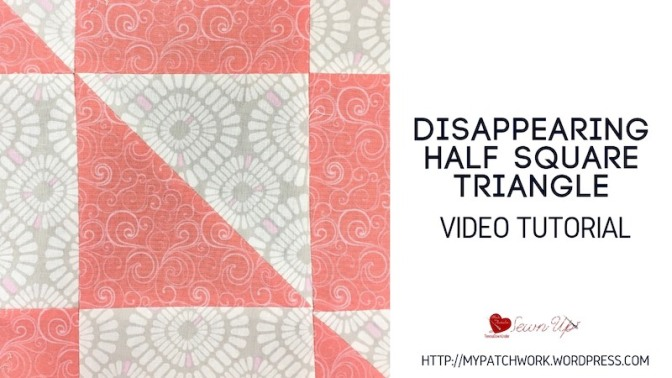 Disappearing half square triangle quilt block