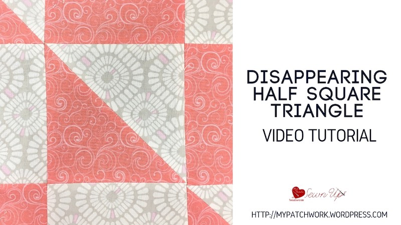 Disappearing HST quilt block video tutorial