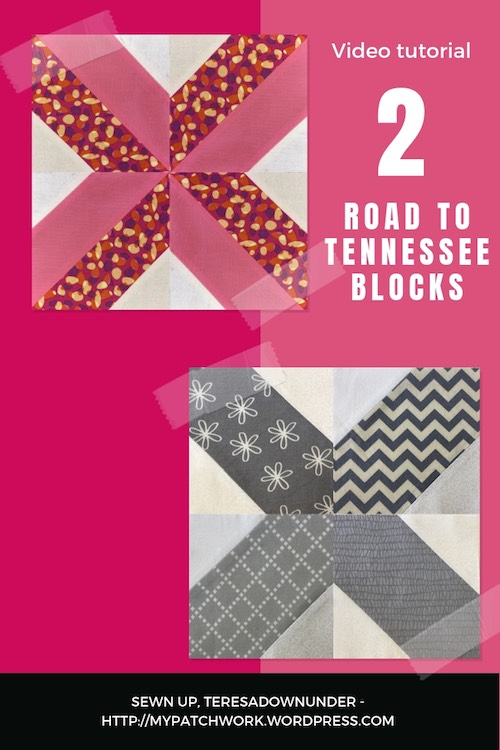 Road to Teneessee quilt blocks