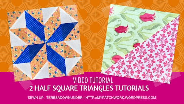 2 half square triangles block tutorial