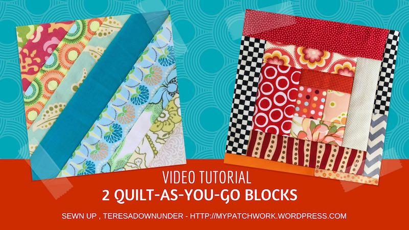 2 Quilt as you go blocks video tutorial