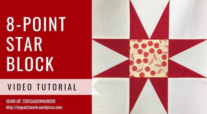 8-point star quilt block - - Video tutorial