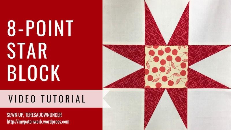 8-point star quilt block - - Video tutorial