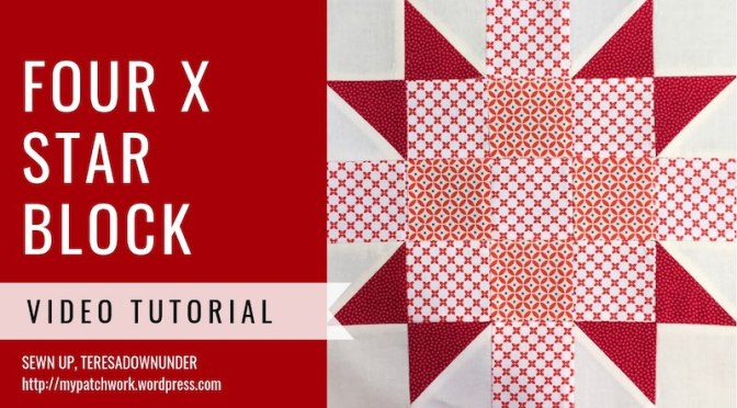 Four X star quilt block – video tutorial