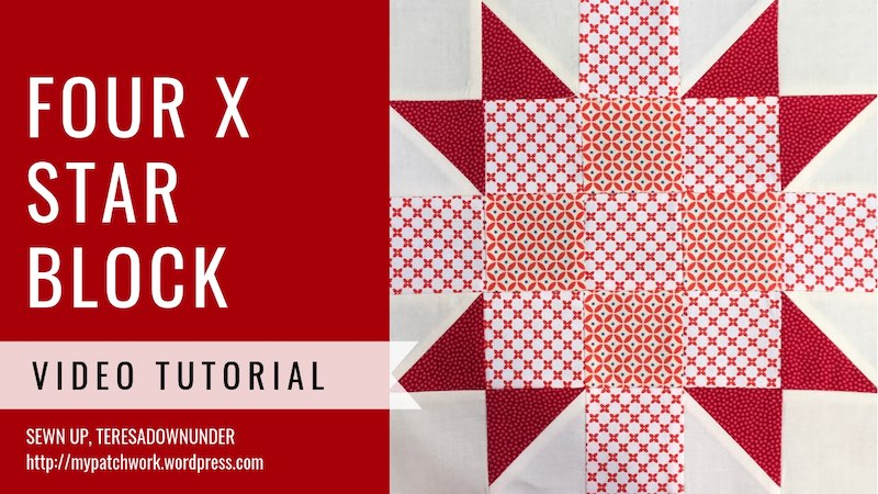 Four X star quilt block - Video tutorial