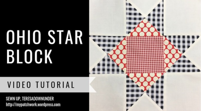 Ohio star quilt block – video tutorial