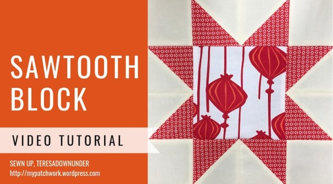 Sawtooth star quilt block – video tutorial