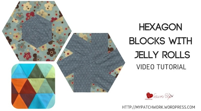 Hexagon blocks with jelly rolls