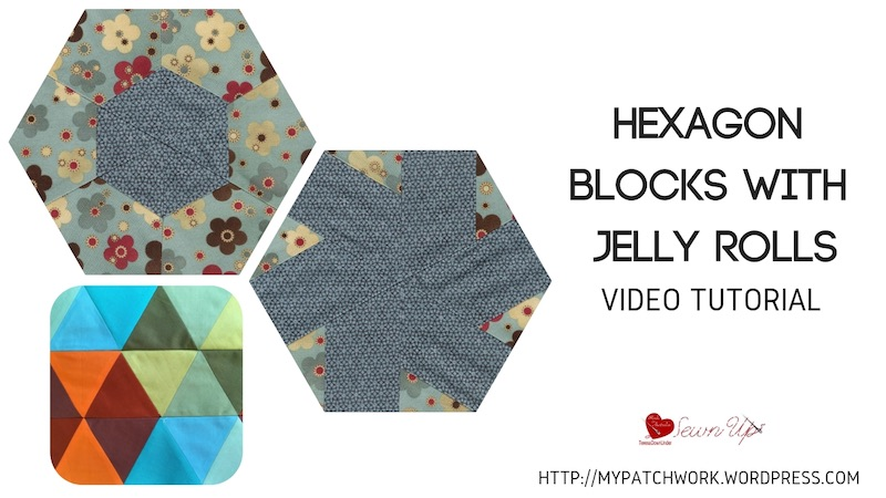 Video tutorial: Hexagon blocks with jelly rolls