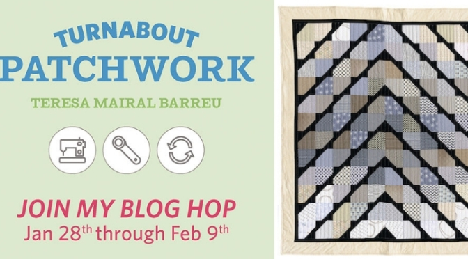 Quarter Snow Ball block, Turnabout patchwork blog hop