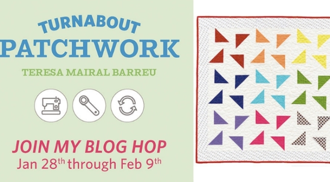Modern Shoofly block, Turnabout patchwork blog hop