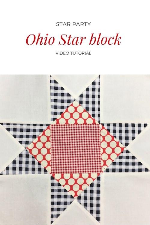 Ohio Star quilt block - Video tutorial