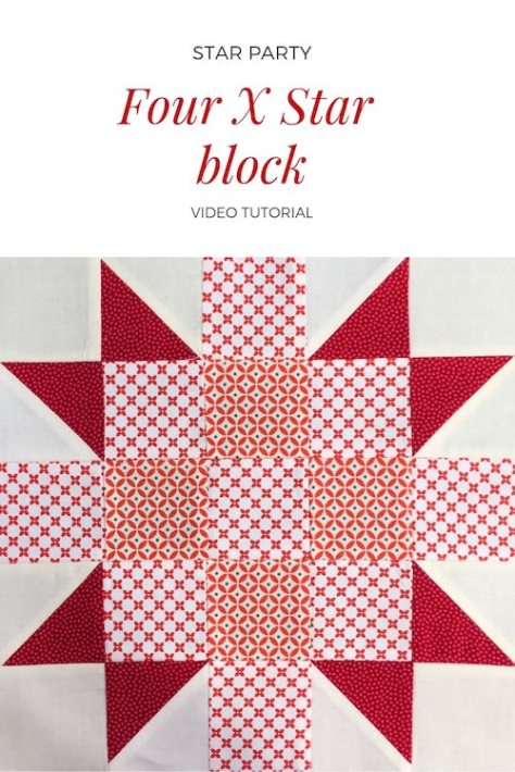 Four X star quilt block - Video tutorial