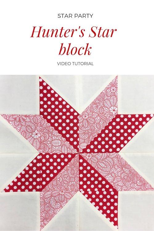 Hunter's star quilt block - Video tutorial